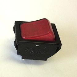 Rocker Switch 16Amp 250V  DPST Red Neon IIluminated