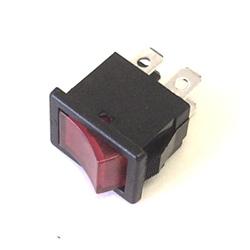 Rocker Switch 4amp 250V DPST Red Neon Iluminated.