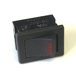 Rocker Switch 6a Spst Red Led