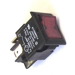 Rocker Switch 6a Spst Red Neon