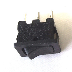 Rocker Switch 6amp SPST Black