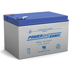 Powersonic PS-12120F1 Sealed Rechargeable Battery 12 Volt 12 Amp