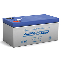 Powersonic PS-1230FI Sealed Rechargeable Battery 12 Volt 3.4 Amp