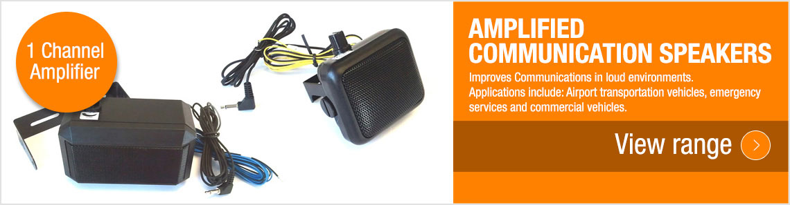 Amplified Communication Speakers
